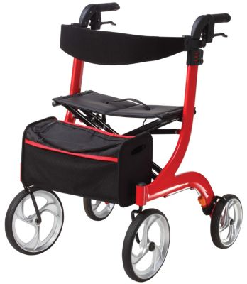 Drive Nitro 4 Wheel Rollator (Red)