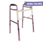 Mabis Two-Button Release Folding Walker