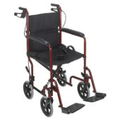 Mabis Folding Steel Transport Chair