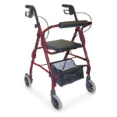 Mabis Ultra Lightweight Adjustable Seat Hemi Rollator