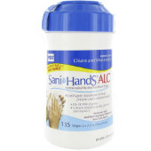 Sani-Hands ALC Antimicrobial Alcohol Gel Hand Wipes