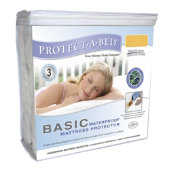 Protect-A-Bed® Basic Breathable Fitted Mattress Protector - Waterproof