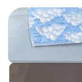Printed Waterproof Bed Pad - Blue Sky