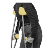 Crutch Fleece Covers, 1 Pair