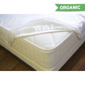 NaturePedic Organic Breathable Waterproof Mattress Protector - Fitted - Full