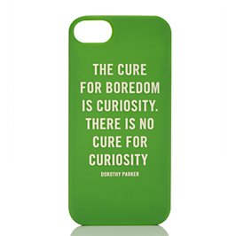 curiosity quote iphone 5 case