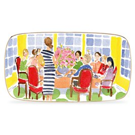 illustrated toast of the town hors d'oeuvres tray