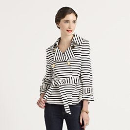 Kate Spade striped bow jacket