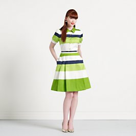 striped jeanette dress