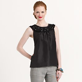 jeweled capriole top