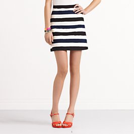striped delphina skirt