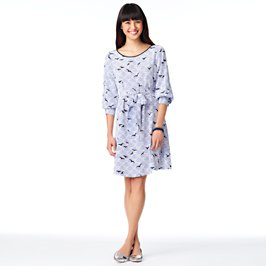 birds georgette dress