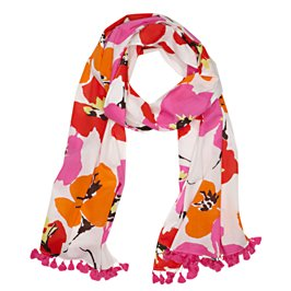 flutter floral scarf
