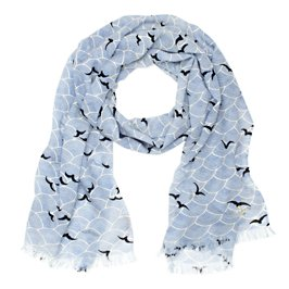 birds over arches scarf