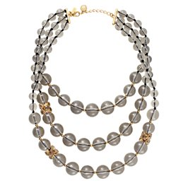 bowery ball bib necklace