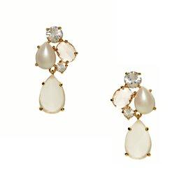 crystal chapel cluster drop earrings