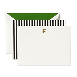 monogram note card f