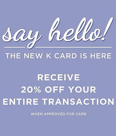 Complete your online Kirkland's Credit Card Application: