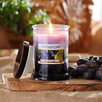 fresh aroma candles and flickering accent light candles