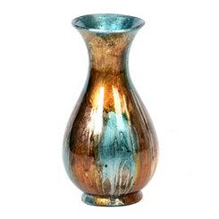 Turquoise Drip Glaze Vase