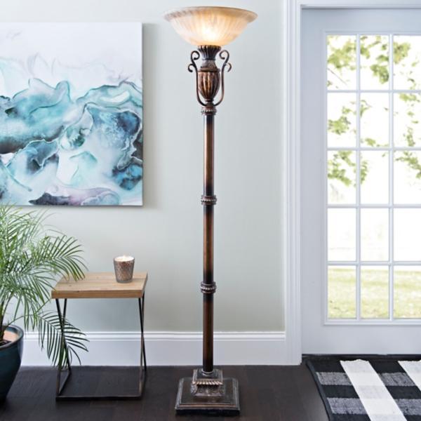 Floor lamps torchiere floor lamps kirklands color infusion torchiere aloadofball Images