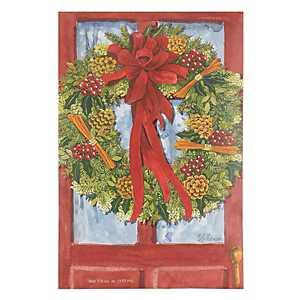 Red Door Wreath Sachet