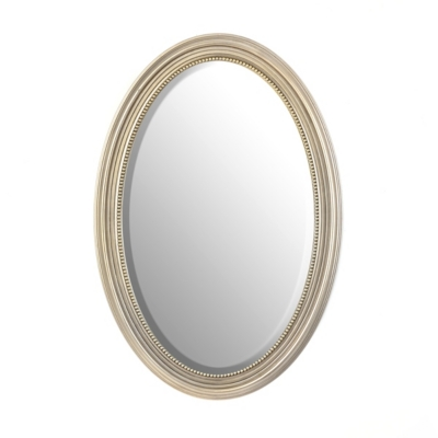 Beaded Oval Wall Mirror, 21x31
