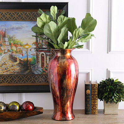 Foil Finish Floor Vase
