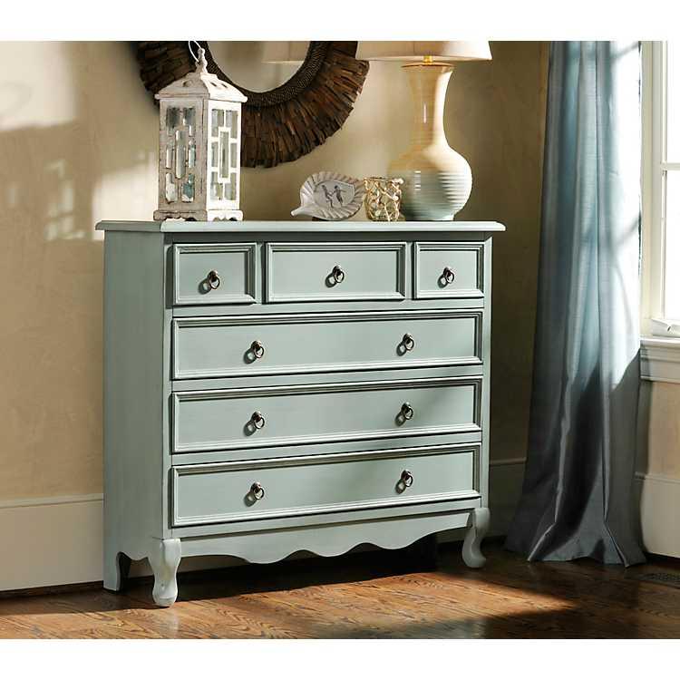 Furniture Store Kirkland: Blue Distressed Chest