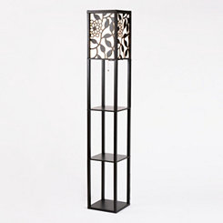Floral Shelf Floor Lamp
