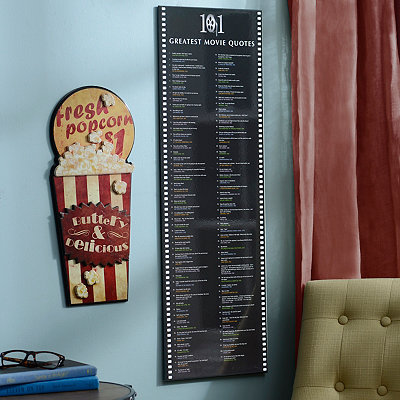 101 Greatest Movie Quotes Wall Plaque