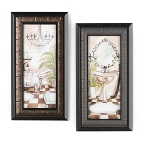 Azul Jewel Bath Framed Art Prints