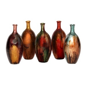 Color Infusion Foil Vase, 10 in.