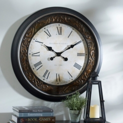 Black & Bronze Clock