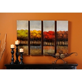 Four Seasons Canvas Print, Set of 4