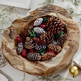 Cinnamon Holiday Pine Cone Bag