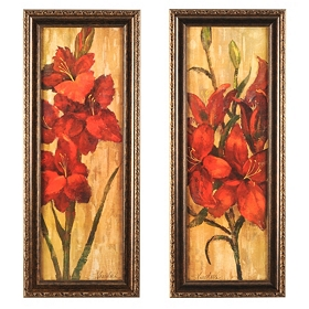 Vivid Red Framed Art Print