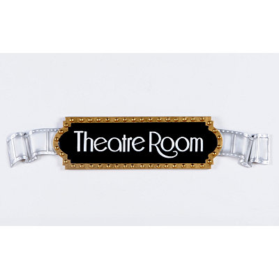 Theatre Room Film Reel Plaque