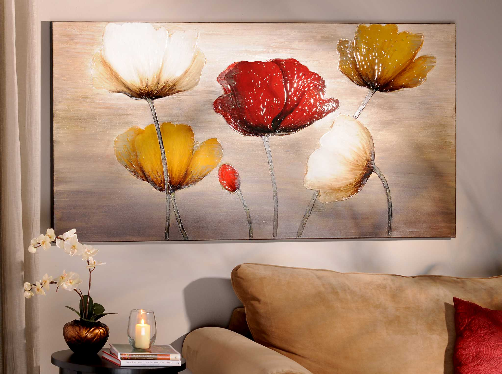 Poppy Profusion Canvas Painting Kirklands