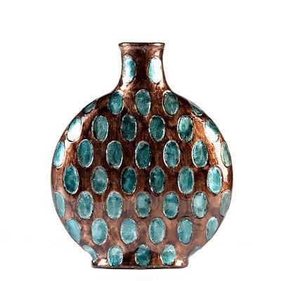 Blue & Smoke Dotted Vase