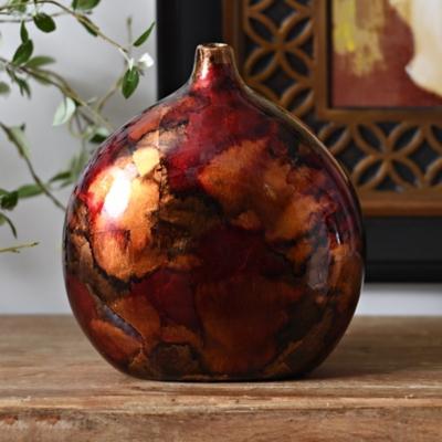 Red Round Vase