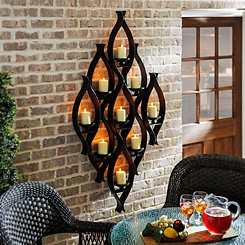 9-Pillar Candle Holder