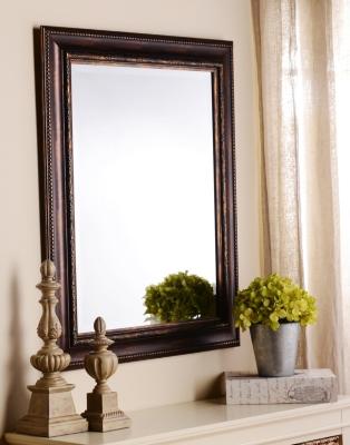 Ornate Tortoise Framed Mirror, 29x35