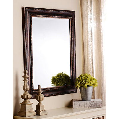 Ornate Tortoise Framed Mirror, 29x35