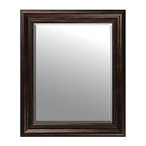 Beaded Bronze Framed Mirror, 29x35 in.
