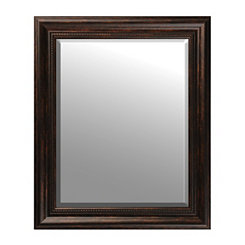 Beaded Bronze Framed Mirror, 29x35 in.