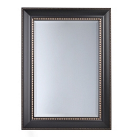 Black and Gold Framed Mirror, 34x46