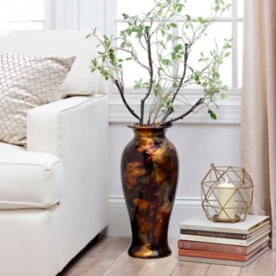 Plum Color Infusion Floor Vase