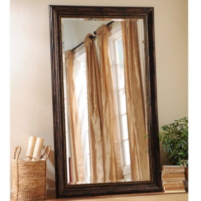 Tortoise Bead Leaner Mirror, 46x76 in.