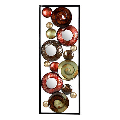 Spirals with Mirrors Wall Art